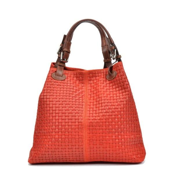 Červená kožená kabelka Isabella Rhea 858