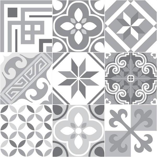 Set 9 autocolante perete Ambiance Carmelito, 10 x 10 cm