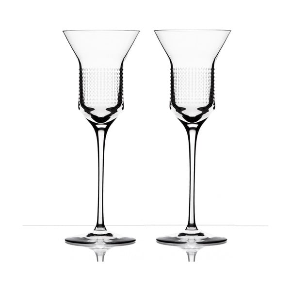 Sada 2 sklenic na bílé víno Dots od Olgoj Chorchoj, 200 ml