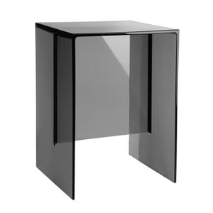 Tmavě šedý plastový stolek Kartell Max Beam