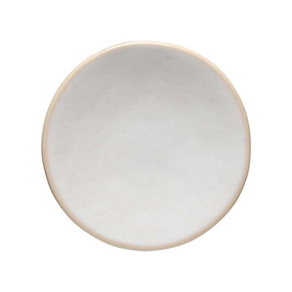 Biely kameninový podnos Costa Nova Roda, ⌀ 13 cm