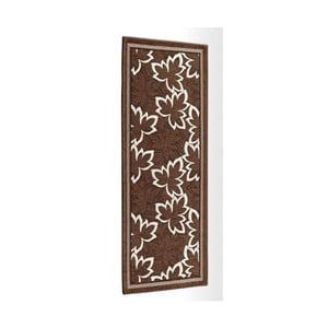 Hnědý vysoce odolný kuchyňský koberec Webtappeti Maple Marrone,55x240cm
