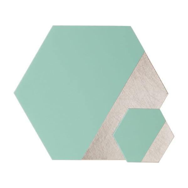 Sada 4 koženkových podtácků Premier Housewares Meda, 10 x 11