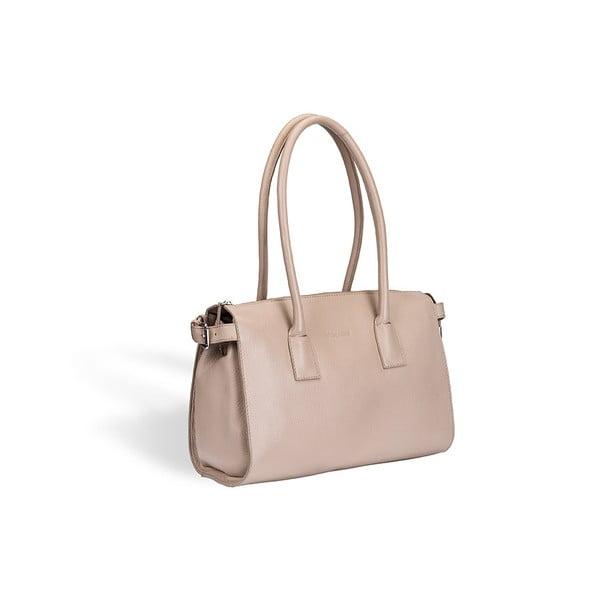 Kožená kabelka Valentini 428, béžová
