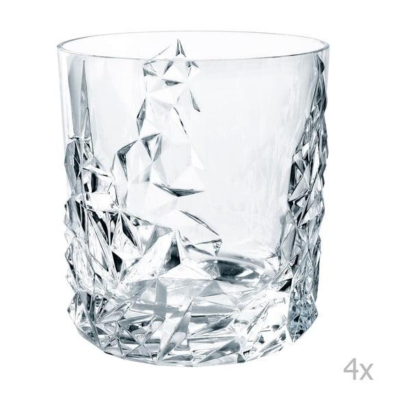 Sada 4 sklenic na whisky z křišťálového skla Nachtmann Sculpture Whisky Tumbler, 365 ml