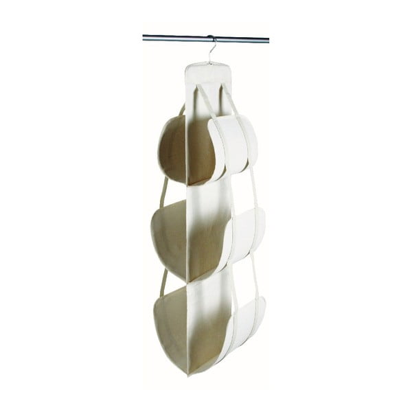 Bílý závěsný úložný box na kabelky Jocca, 105x30cm