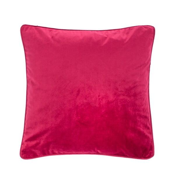 Tmavě růžový polštář Tiseco Home Studio Velvety, 45x45cm