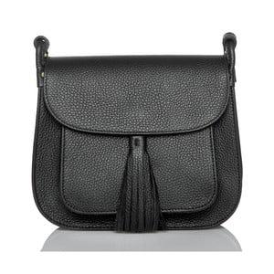Černá kožená kabelka Glorious Black Lies