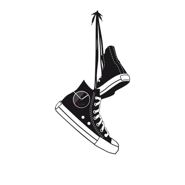 Hodiny se samolepkou Shoes