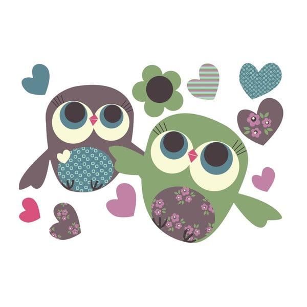 Znovu snímatelná samolepka Owls Mini, 30x21 cm