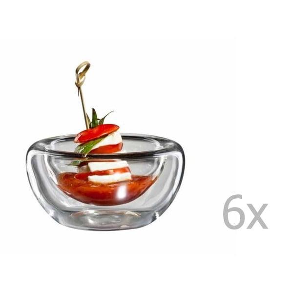 Sada 6 středních skleněných mističek bloomix
