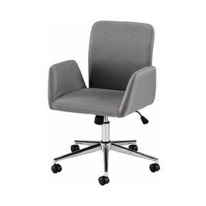 Šedá kancelářská židle na kolečkách s područkami Støraa Bendy