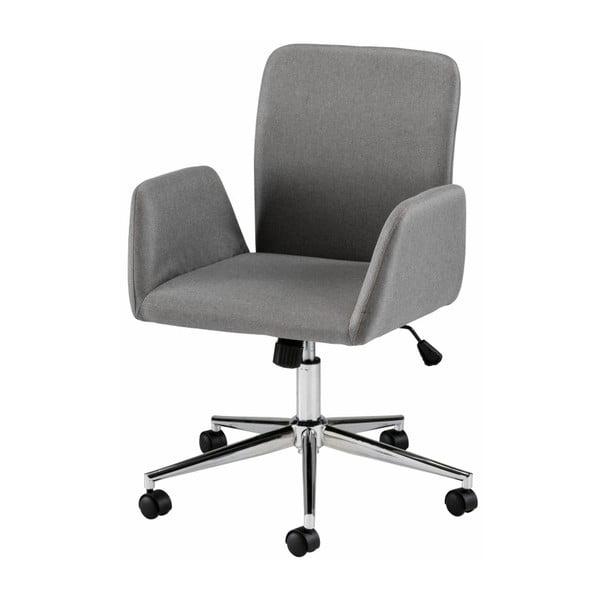 Szare krzesło biurowe na kółkach z podłokietnikami Støraa Bendy