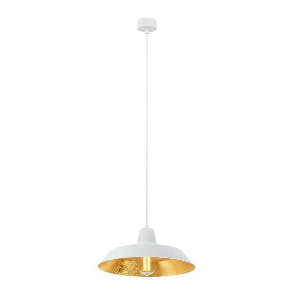 Cinco fehér függőlámpa aranyszínű lámpabelsővel, ⌀ 35 cm - Bulb Attack