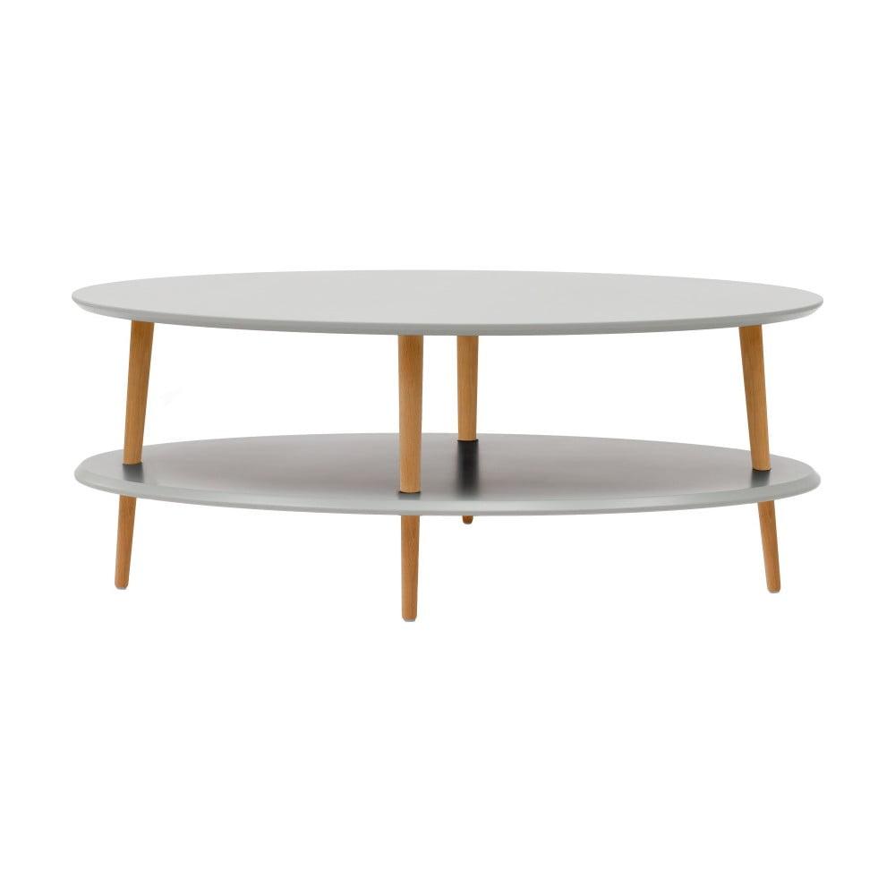 Světle šedý konferenční stolek se sníženou spodní deskou Ragaba OVO