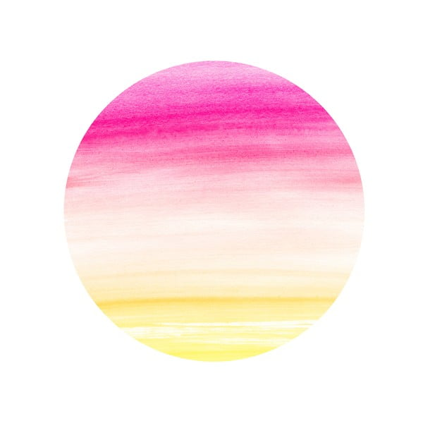 Sada 2 odkládacích stolků Watercolour Sunset, 35 cm + 49 cm