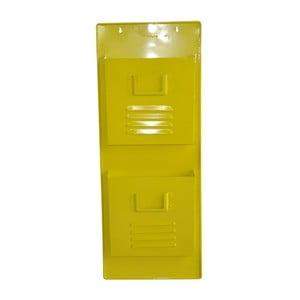 Nástěnný stojan na časopisy Waterguest, žlutý