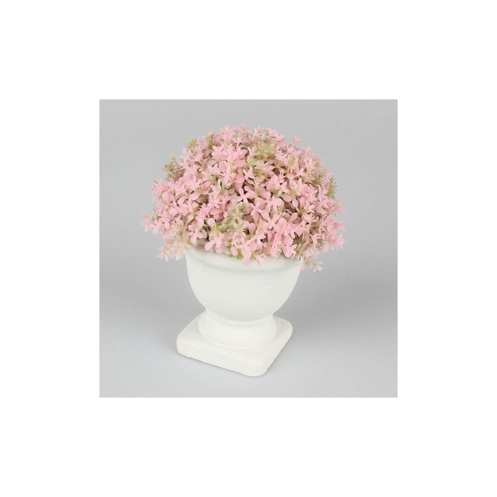 Růžová květinová dekorace Dakls, výška 15cm