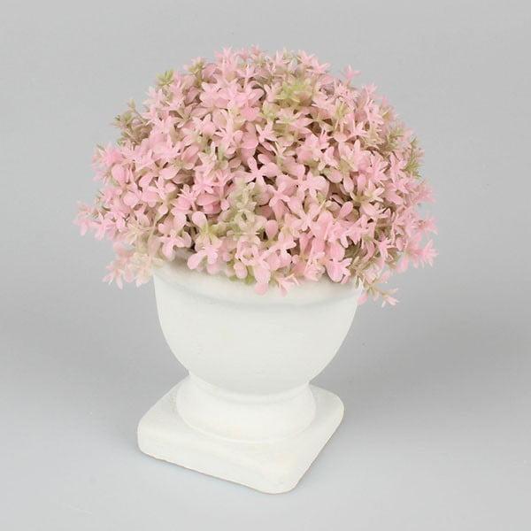 Różowa dekoracja z kwiatów Dakls, wys. 15 cm