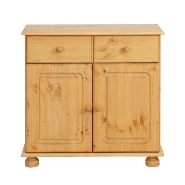 Comodă din lemn de pin cu 2 uși Støraa Ella, maro deschis