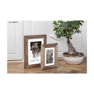 Hnědý rámeček s bílou paspartou na fotografii Styler Bergen, 30x40cm