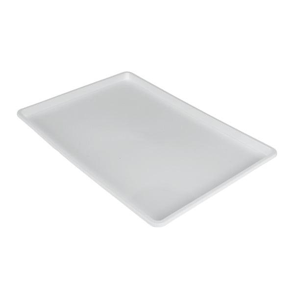 Bílý podnos Metaltex Germatex, 45x31cm