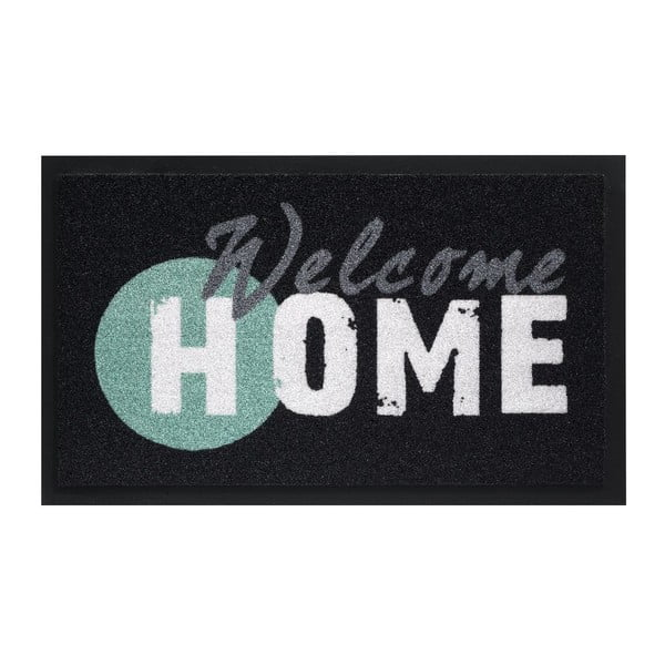Rohožka Hamat Welcome Home Black, 45 x 75 cm