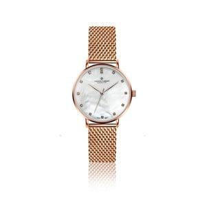 Dámské hodinky s páskem z nerezové oceli v růžovozlaté barvě Frederic Graff Dolent
