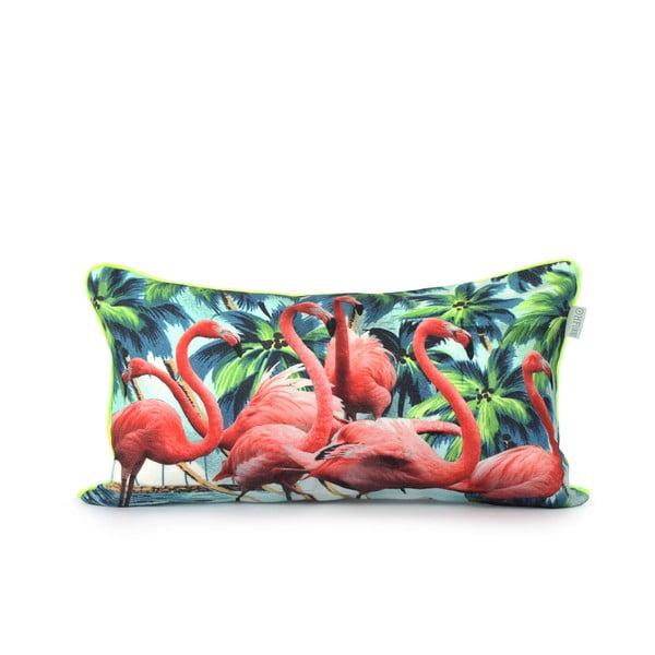 Bavlněný povlak na polštář  HF Living Flamingos 50x30cm