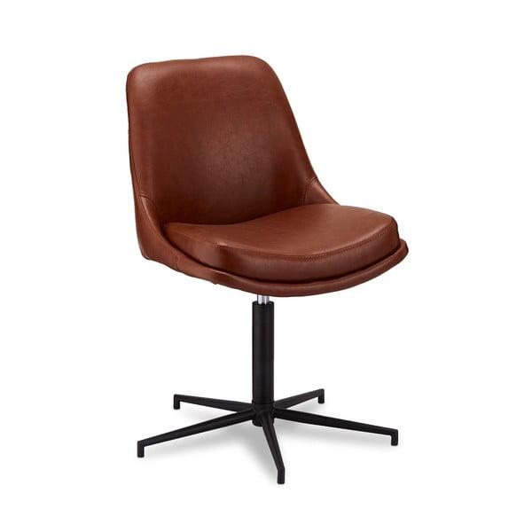 Otočná jídelní židle spotahem zimitace kůže Furnhouse Claudia