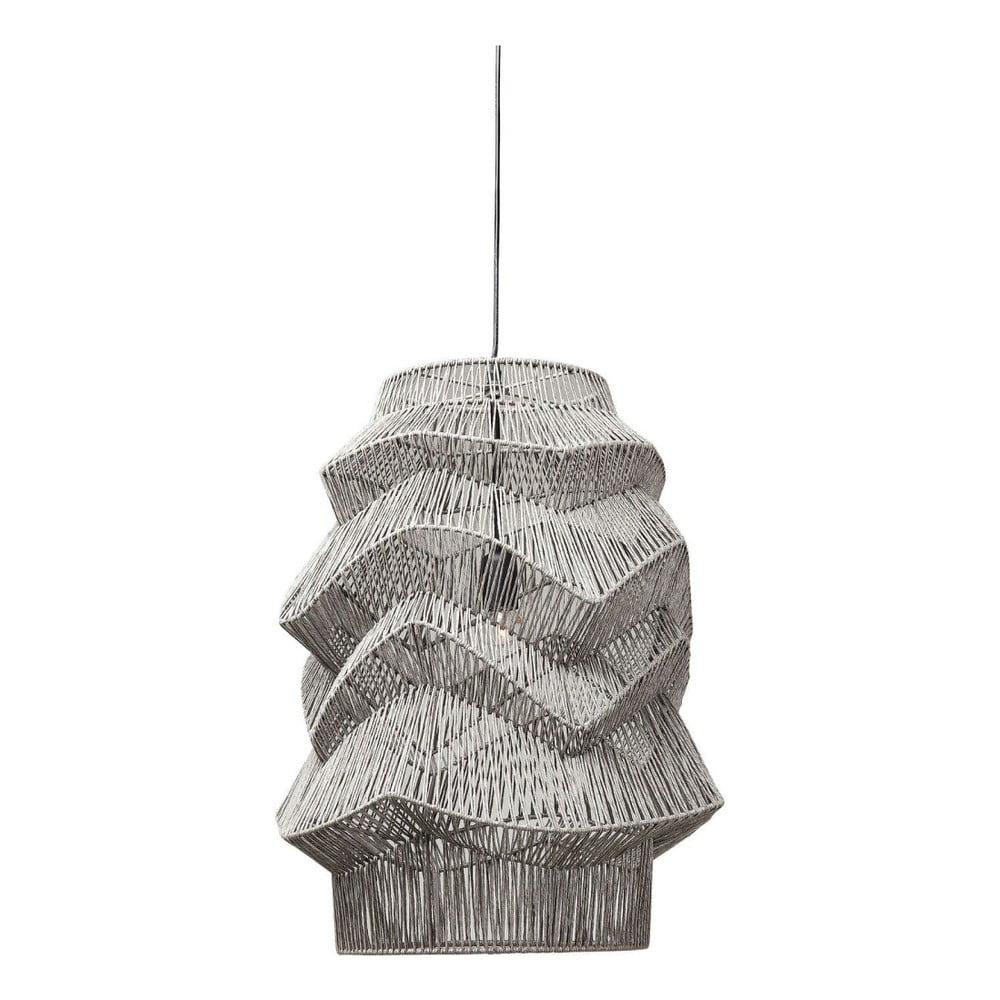 Černé stropní svítidlo Kare Design Waves Black, ⌀ 48 cm