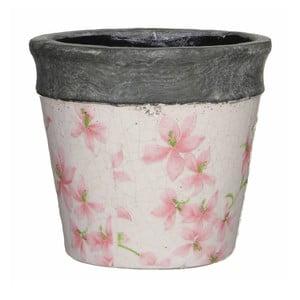 Květináč s růžovými vzory Mica Park, 13,5x14,5cm