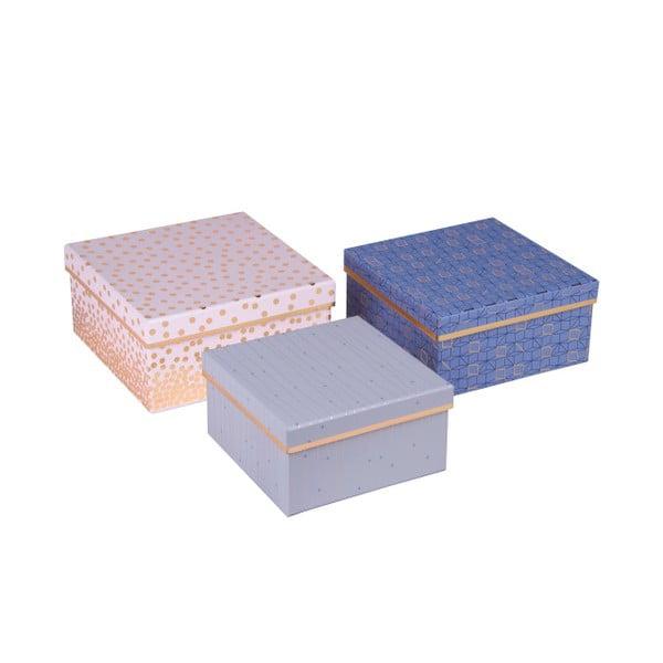 Sada 3 ks čtvercových boxů Tri-Coastal Design Sky And Glitters