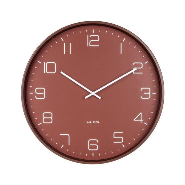 Czerwony zegar ścienny Karlsson Lofty, ø 40 cm