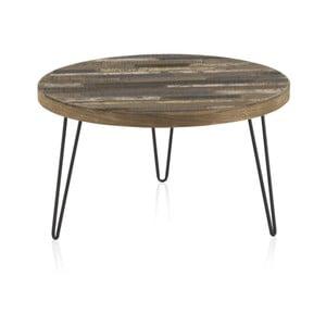 Konferenční stolek s deskou z jilmového dřeva Geese Cala, ⌀71cm
