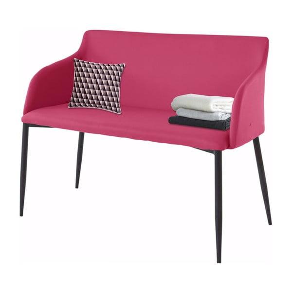 Růžová lavička s černými nohami Støraa Nimbus