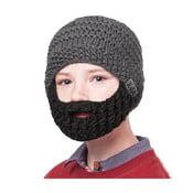 Căciulă cu barbă, pentru copii, Beardo Kids, gri-negru