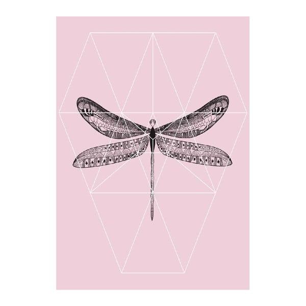 Plakát Pink Fly, A3
