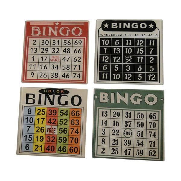 Sada 4 podtácků na skleničky Bingo