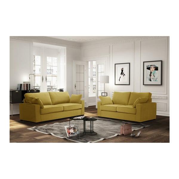 Žlutá dvoumístná pohovka Jalouse Maison Serena