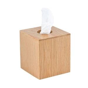 Box na kapesníčky z dubového dřeva Wireworks Mezza