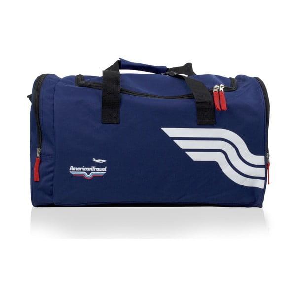 Niebieska torba sportowa American Travel Boston