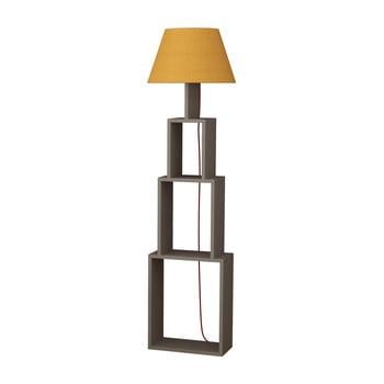 Lampadar cu abajur galben Homitis Tower