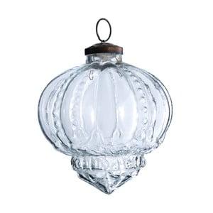 Set šesti skleněných ozdob Drop, 10 cm, průhledná
