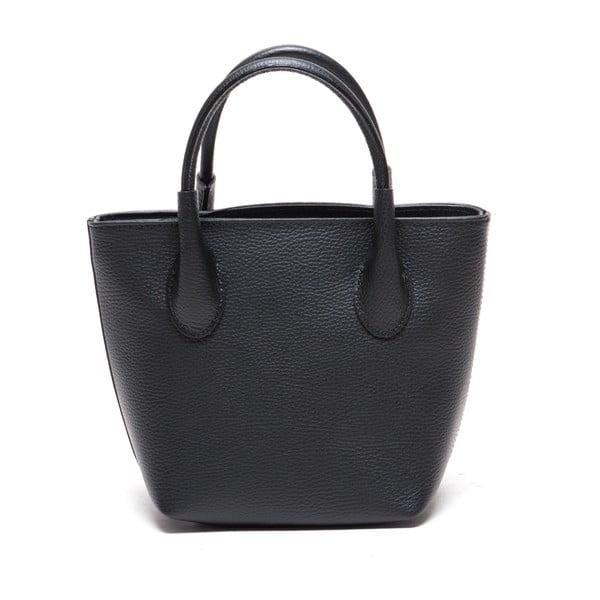 Kožená kabelka Carlota, černá
