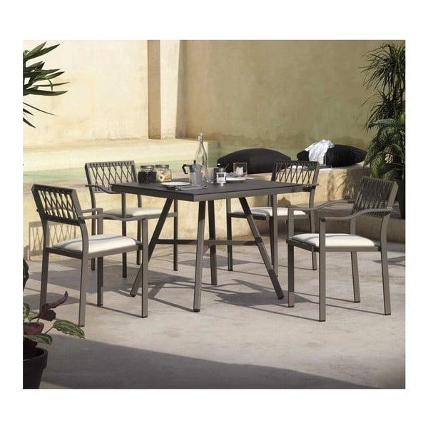 Sada 2 šedých zahradních židlí Geese Nium