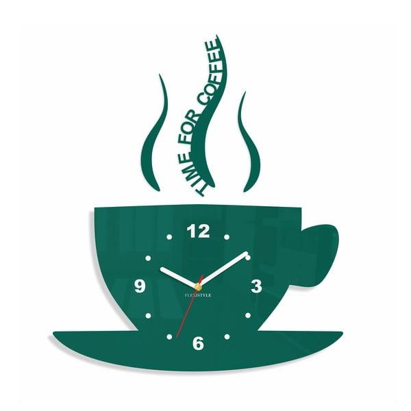 Hodiny z plexiskla Cup Dark Green