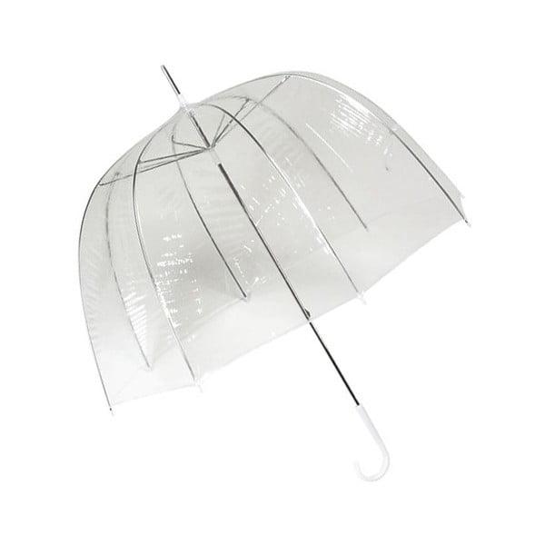 Transparentný tyčový dáždnik Ambiance Birdcage Cloche, ⌀77 cm