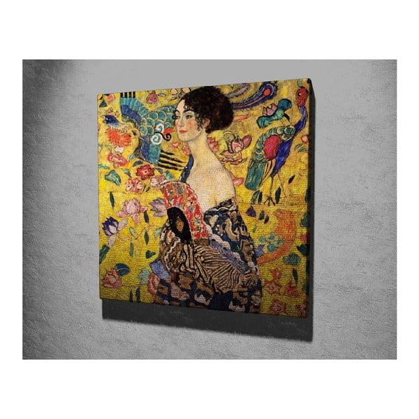 Nástěnná reprodukce na plátně Gustav Klimt , 45 x 45 cm