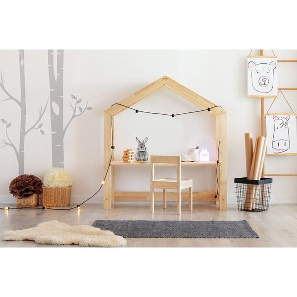 Domčekový detský pracovný stôl z borovicového dreva Adeko Bran, 40 x 100 cm